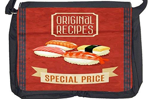 Borsa Tracolla Nostalgico Divertimento Sushi Stampato