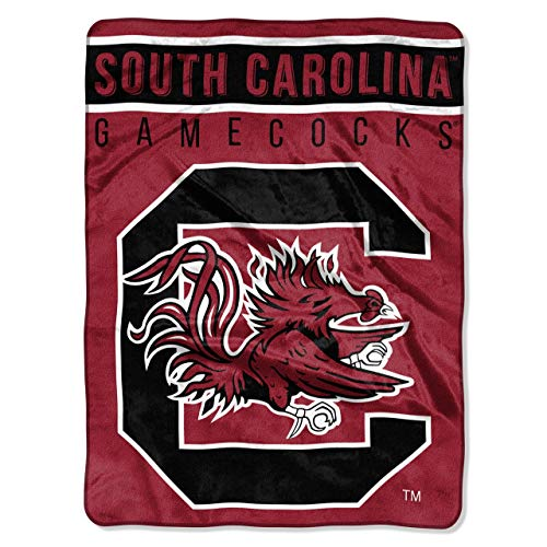 (The Northwest Company Officially Licensed NCAA South Carolina Gamecocks Basic Raschel Throw Blanket, 60