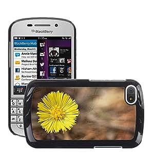 Etui Housse Coque de Protection Cover Rigide pour // M00151200 Tussilago Farfara flor de la planta // BlackBerry Q10