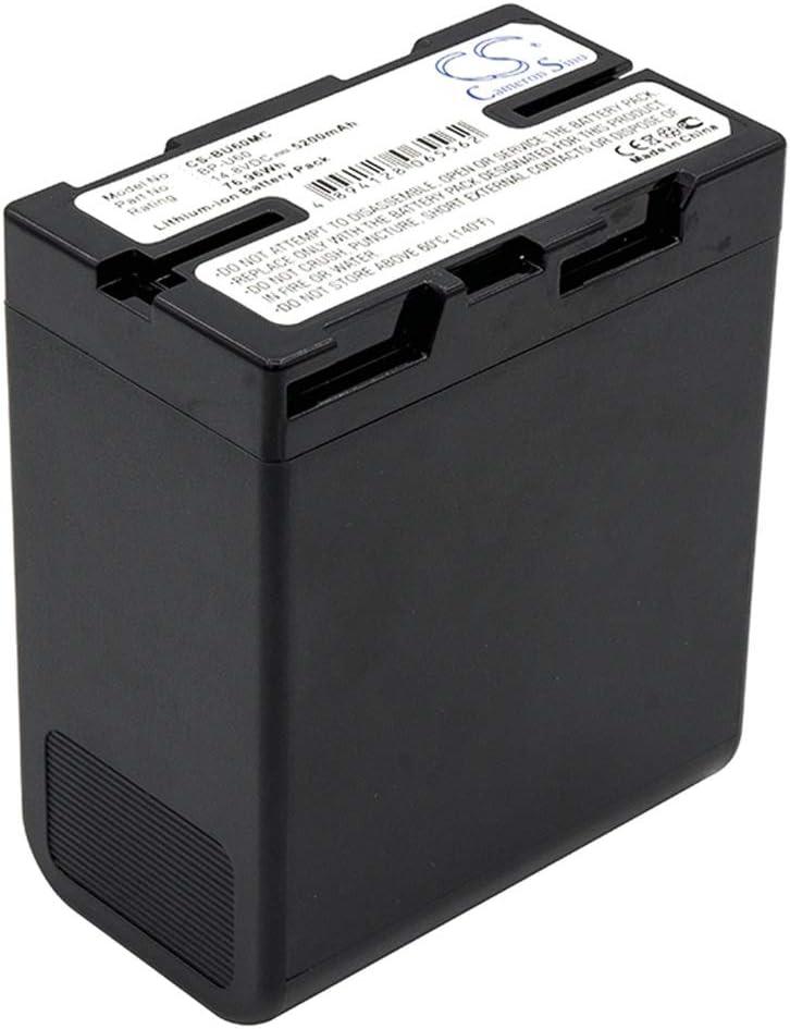 Sunsamy-CA Camera Battery Color : Black, Size : 69.70 x 82.50 x 41.5mm 5200mAh//76.96Wh 14.8V Camera Battery for BP-U60 BP-U65 HD422 PMW-100 PMW-150,Backup Camera Cells