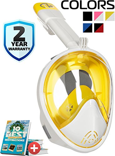 Easy Breath Surface Scuba Mask Full Face Design For Action Camera (Black) - 6