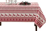 BENSON MILLS Nordic Christmas Herringbone Printed Rectangle Tablecloth, 60 by 120-Inch