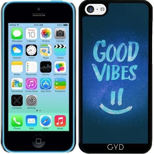 Coque pour Iphone 5c - Bonnes Vibes - Stat Smiley Drôle by badbugs_art