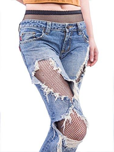 BerryGo Women's Sexy Mesh Fishnet Sparkle Glitter Rhinestone Pantyhose Black (Glitter Mesh Dress)
