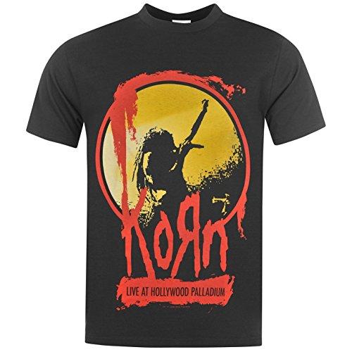(Korn Live at Hollywood Palladium T-Shirt Mens Black Music Top Tee T Shirt Small)