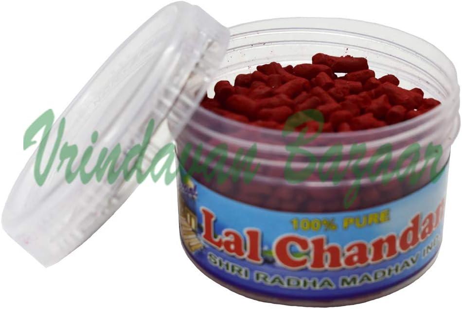 Red Vrindavan Bazaar Asthganda Chandan pour d/écoration int/érieure Accessoire de culte Ensemble de 2 Santal