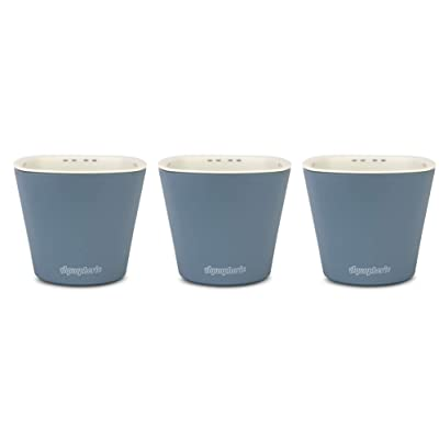 Window Garden – Aquaphoric Self Watering Mini Planter Pots (3 Pack) – Grow On Indoor Sill. Perfect for Potting Small Plants, Herbs, African Violets, Succulents, or Start Seedlings. : Garden & Outdoor