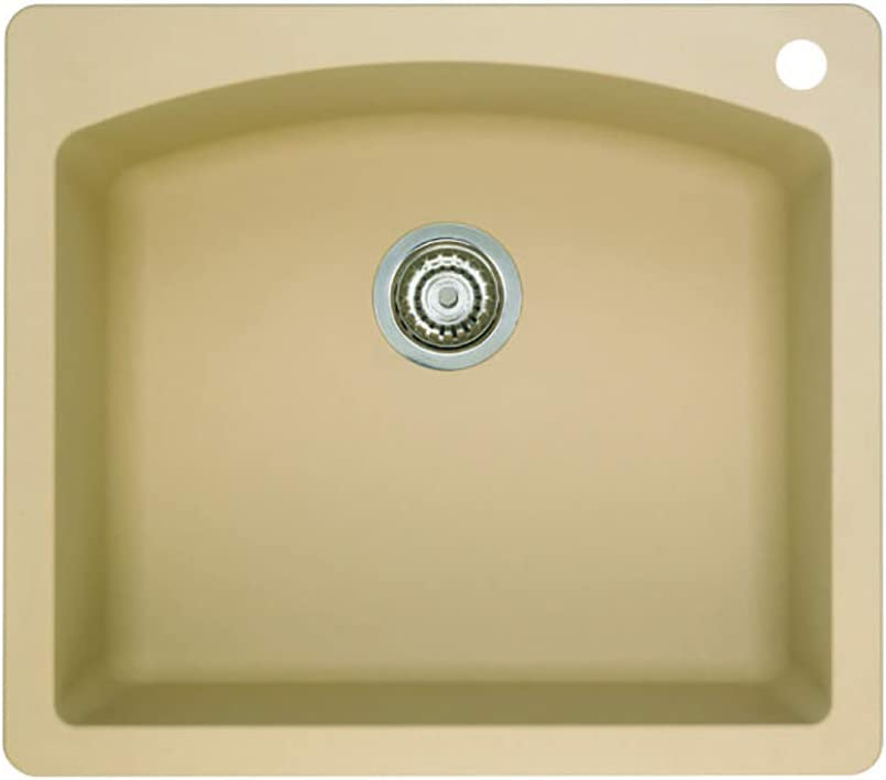 Blanco 441215 Diamond Single Bowl Dual Deck-Biscotti Sink, 25 X 22