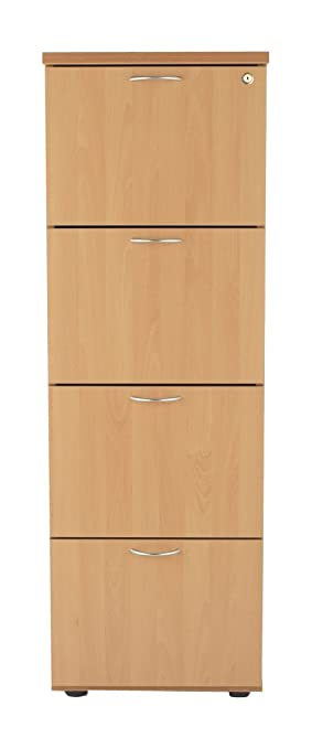 Bon 4 Drawer Wood Filing Cabinet   SMART Office Furniture Range From Relax  Office Furniture