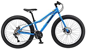 "Amazon.com : Mongoose Vinson Fat Tire Bike, Blue, 24"" Wheel : Sports"