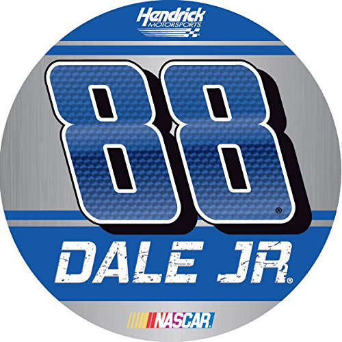 "Dale Earnhardt Jr #88 2016 4"" Round Vinyl DECAL Auto Home Nascar Racing"