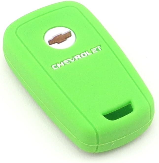 Green Color iSaddle Silicone Protecting Vehicle Remote Start Key Case Cover Fob Holder for Chevrolet Camaro Cruze Equinox Malibu Orlando Sonic