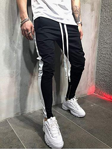 Printemps Rayure Mode Blanc Noir Automne Jogging Casual Homme Et Pantalon Fit Slim Tomwell Sportswear OWEPAgw