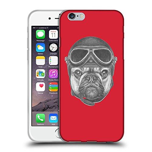 "GoGoMobile Coque de Protection TPU Silicone Case pour // Q05250601 Casque bulldog Alizarine // Apple iPhone 6 PLUS 5.5"""