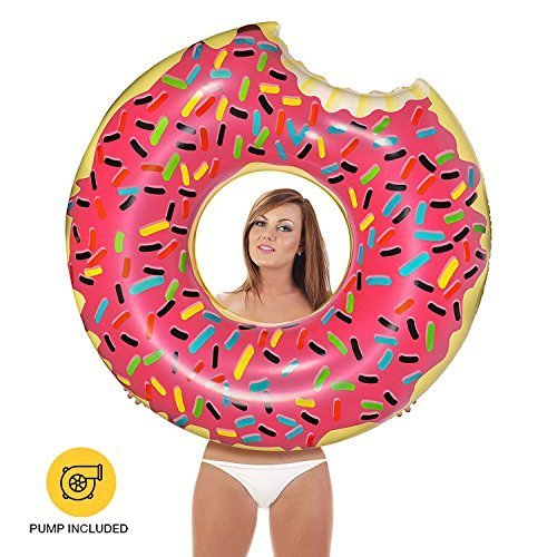 Inflatables Giant Pool Floats Pump Included (Donut)