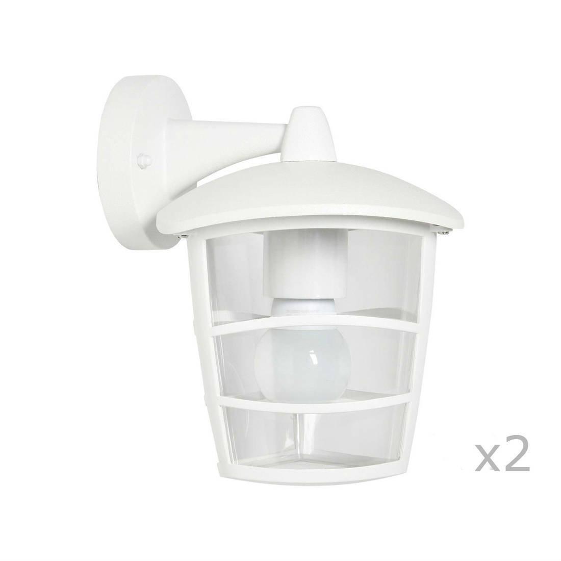 ALORIA - 2 Appliques d'extérieur Descendante Blanc H22,50cm - Luminaire d'extérieur Eglo designé par
