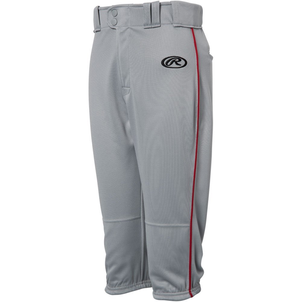 Rawlings Youth Launch Piped Knickerパンツ B0778VQRJG Medium|Grey|Scarlet Grey|Scarlet Medium