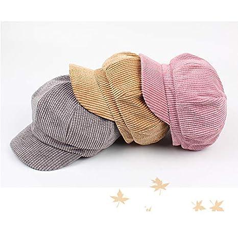Milnut Casquette octogonale Femmes Chapeau Chapeau d/écontract/é Plusieurs Coloris Taille Unique