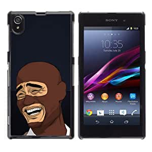 CaseCaptain Carcasa Funda Case - SONY XPERIA Z1 / LOL MEME Laughing Face /