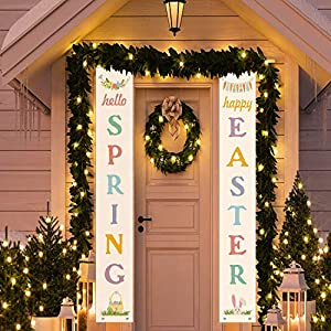 Sweepstakes: Funnlot Easter Porch Sign Easter Hanging...