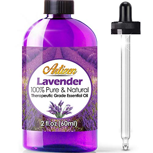 2oz - Artizen Lavender Essential Oil (100% Pure & Natural - UNDILUTED) Therapeutic Grade - Huge 2 Ounce Bottle - Perfect for Aromatherapy