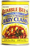 Bumble Bee Baby Clams, Fancy Whole, 10 oz