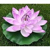 paradieseinkauf - Fiore artificiale galleggiante, modello ninfea, 22 cm lilla