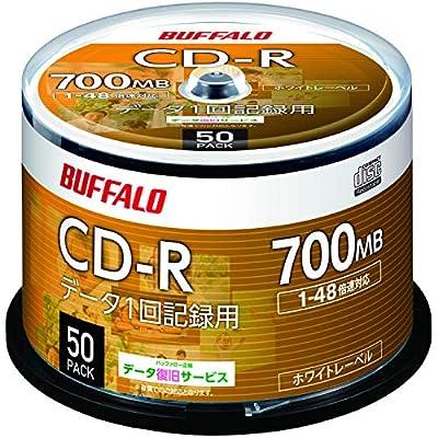 バッファロー データ用 CD-R 1回記録用 700MB 50枚 スピンドル 1-48倍速 ホワイトレーベル RO-CR07D-050PW/N