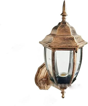 Inicio Lámpara De Pared Exterior Lámpara Pasillo Retro Ático Jardín Pasillo Lámpara Jardín Interior Balcón Iluminación Industrial Lámparas De Decoración Siamés Bronce Lámpara De Pared Interior: Amazon.es: Iluminación