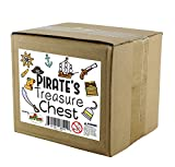Wooden Pirate Treasure Chest with 240 Colored