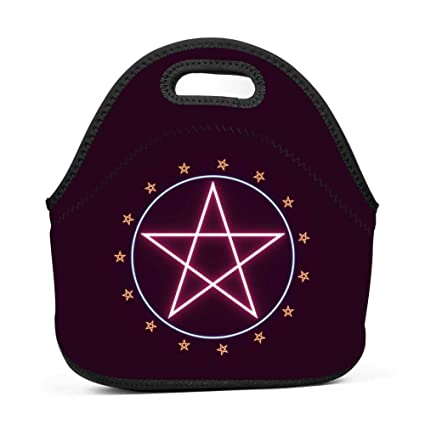 fe80032e2c5c Amazon.com - Family Dream Pentagram Magic Glyphs Pentacle Lunch Bag ...