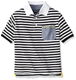 Big Boys' Striped Jersey Polo Shirt with Pocket