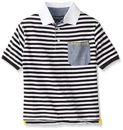 us-polo-assn-big-boys-striped-jersey-polo-with-pocket-black-14-16