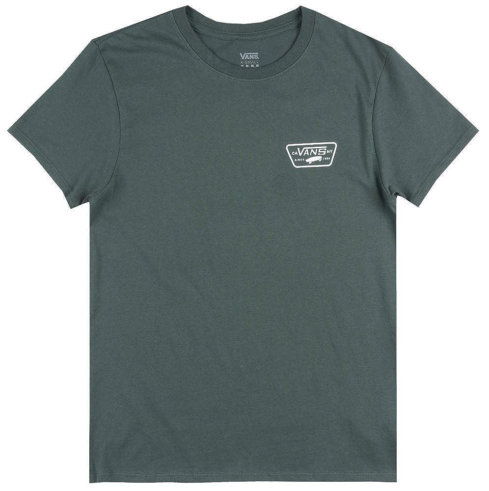 706540e3f6 Amazon.com  Vans Off The Wall OTW Full Patch T-Shirt Womens Skateboard  Boyfriend TEE Green  Clothing