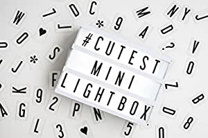 Mini LED My Cinema Lightbox - with 100 letters, numbers & characters to create personalized messages!