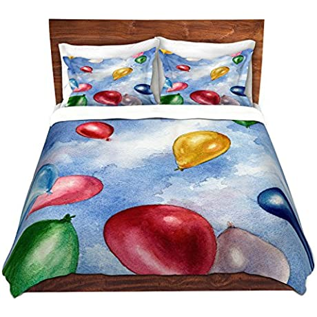DiaNoche Designs Microfiber Duvet Covers Anne Gifford Balloons In Flight