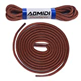 Shoelaces Round Athletic Shoes Lace (2 Pair) - for Shoe and Boot Laces Shoelaces Replacements (36' inches (91 cm), Light Brown)