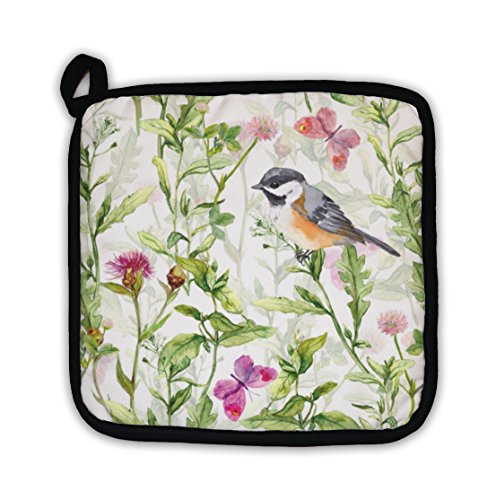 Gear New Small Bird in Spring Meadow Flowers Butterflies Repeated Pattern Watercolor Pot - Throw Womens Express Gear