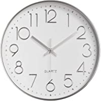 Wall Clock Modern 12 inch Battery Operated Non-Ticking Silent Sweep Movement Wall Clock Decorative for Office, Kitchen…