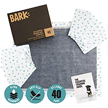 BarkBox Large/XL Puppy Training Pads, Ultra-Absorbant Activated Carbon Charcoal, Odor-Neutralizing 30 inches x 36 inches