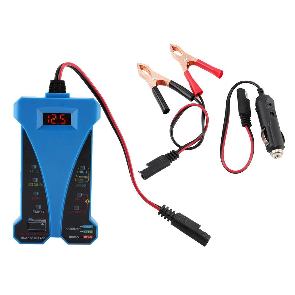 rilevatore di batterie per alternatore per motocicli per auto digitale 2V con indicatori luminosi a 8 LED EBTOOLS Battery Tester