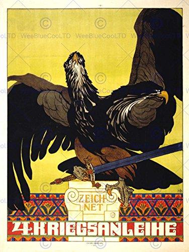 PROPAGANDA WAR WWI AUSTRIA HUNGARY LOAN BOND EAGLE FINE ART PRINT POSTER BB6974B