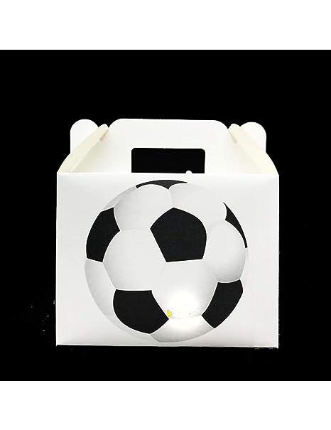 LJPHKK 6Pcs Cajas De Dulces De Fútbol Decoraciones De Fiesta ...