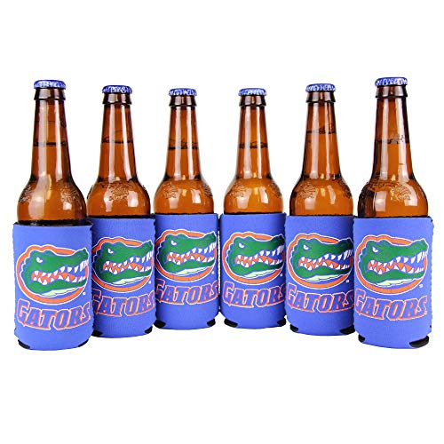 (NCAA Collegiate 6 Pack Bundle Neoprene Can Coozies (Florida Gators (Solid)))