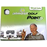 Almost Point3 Golf Balls (10 Pack) Restricted Flight Practice Balls