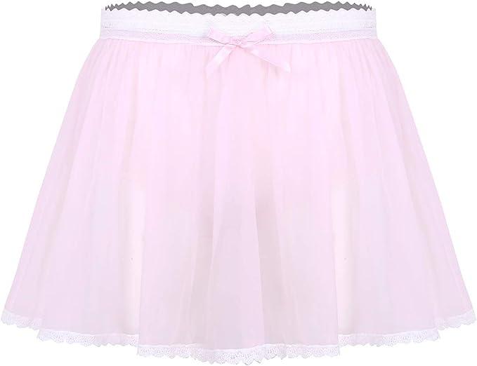 IEFIEL Mini Falda de Tul para Hombre Falda Corta con Pantalones ...