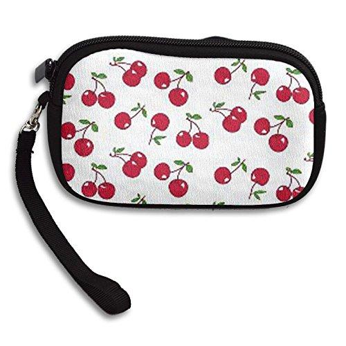 Zipper Small Wallet Red Cherry Women's Purse Porte-monnaie Clutch Cards Holder Wallet Purse Business Card - Shops Cherry At Creek Mall
