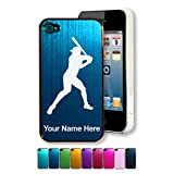 Engraved Aluminum iPhone 4/4S Case/Cover - BASEBALL PLAYER, BATTER - Personalized for FREE (Click the CONTACT SELLER link after purchase to tell us your case color and engraving request)