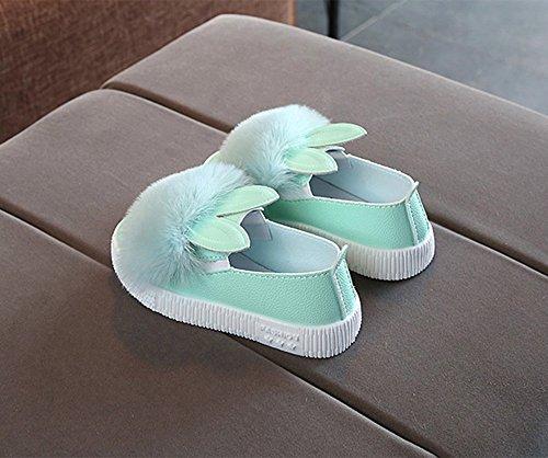 Cute Bambini Bambino Ragazze Antiscivolo Bunny Morbido Singole Casa Vovotrade Fur Pantofole Baby A Verde Scarpe Sneaker Accogliente RrRfwq