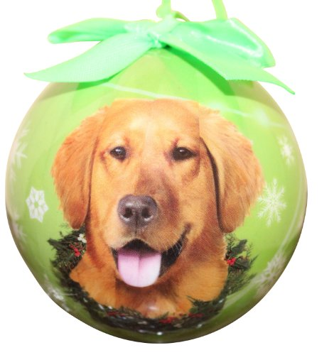 Golden Retriever Christmas Ornament Shatter Proof Ball Easy To Personalize A Perfect Gift For Golden Retriever Lovers